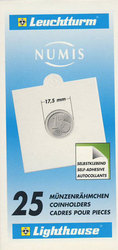 NUMIS -  25 2X2 COIN HOLDER SELF-ADHESIVE UP TO 17.5 MM DIAMETER