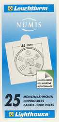 NUMIS -  25 2X2 COIN HOLDER SELF-ADHESIVE UP TO 35 MM DIAMETER