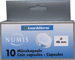 NUMIS CAPSULES -  CAPSULES FOR 48-MM COINS (PACK OF 10)