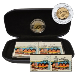NUNAVUT - STAMP AND COIN COMMEMORATIVE COLLECTION -  1999 CANADIAN COINS