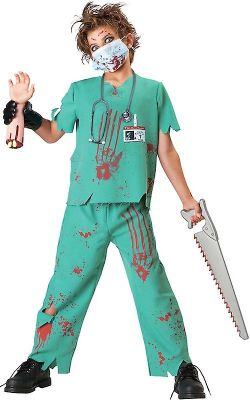 NURSES AND DOCTORS -  DOCTOR N-SANE COSTUME (CHILD)