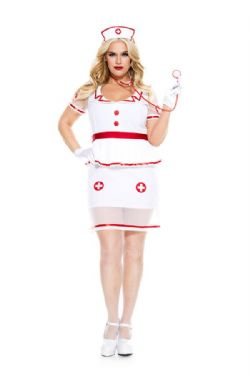 NURSES AND DOCTORS -  HOME CARE NURSE COSTUME (ADULT - PLUS SIZE 1X/2X)