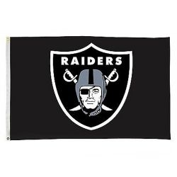 OAKLAND RAIDERS -  3' X 5' VERTICAL FLAG