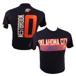 OKLAHOMA CITY THUNDERS -  RUSSEL WESTBROOK #0 T-SHIRT - BLUE