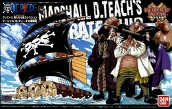 ONE PIECE -  MARSHALL D TEACH'S PIRATE SHIP MODEL