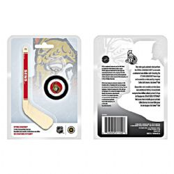 OTTAWA SENATORS -  OTTAWA SENATORS LOGO IN A HOCKEY MINI-PUCK AND MINI-STICK -  2009 CANADIAN COINS