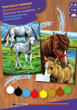 PAINT BY NUMBERS JUNIOR 2 PACKS - HORSES
