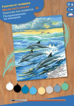 PAINT BY NUMBERS JUNIOR - DOLPHINS