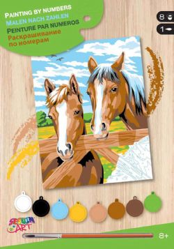 PAINT BY NUMBERS JUNIOR - HORSES
