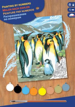 PAINT BY NUMBERS JUNIOR - PINGUINS