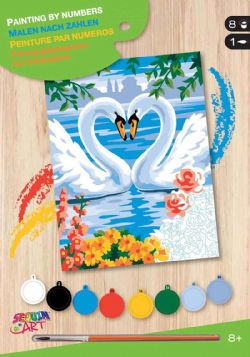 PAINT BY NUMBERS JUNIOR - SWANS