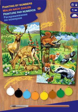 PAINT BY NUMBERS JUNIOR TWIN PACK - WOODLAND ANIMALS