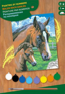 PAINT BY NUMBERS SENIOR - HORSE AND FOAL