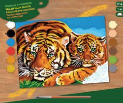 PAINT BY NUMBERS SENIOR - TIGERS