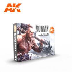 PAINT SET -  HUMAN FLESH TONES -  AK INTERACTIVE