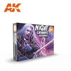 PAINT SET -  NIGHT CREATURE FLESH TONES -  AK INTERACTIVE