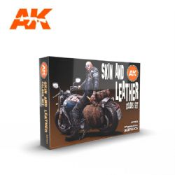 PAINT SET -  SKIN AND LEATHER -  AK INTERACTIVE