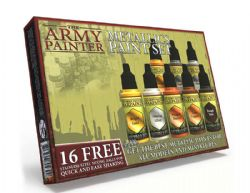 PAINT -  THE ARMY PAINTER - WARPAINTS METALLIC PAINT SET