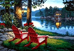 PAINT WORKS -  ADIRONDACK EVENING (20