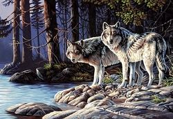 PAINT WORKS -  GREY WOLVES (20