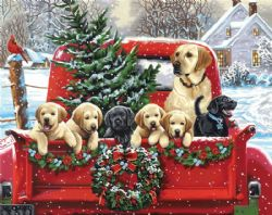 PAINT WORKS -  HOLIDAY PUPPY TRUCK (20