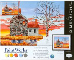 PAINT WORKS -  HOME AT SUNSET (20