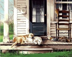 PAINT WORKS -  LAZY DOG DAY (20