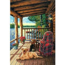 PAINT WORKS -  LOG CABIN PORCH (20