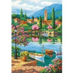 PAINT WORKS -  VILLAGE LAKE AFTERNOON (20