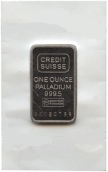 PALLADIUM LINGOT -  1 OUNCE FINE PALLADIUM BAR