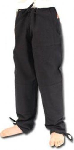 PANTS -  BASIC PANTS - BLACK - SMALL