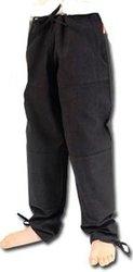 PANTS -  BASIC PANTS - BLACK - X-LARGE