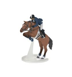 PAPO FIGURE -  JUMPING HORSE WITH RIDER (6