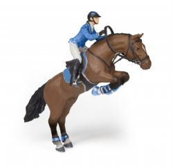 PAPO FIGURE -  JUMPING HORSE WITH RIDING GIRL (6