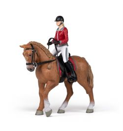 PAPO FIGURE -  WALKING HORSE WITH RIDING GIRL -  HORSES, FOALS AND PONIES 51564