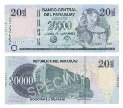 PARAGUAY -  20 000 GUARANIES 2015 (UNC)