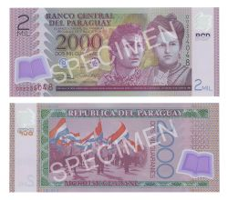 PARAGUAY -  2000 GUARANIES 2011 (UNC)
