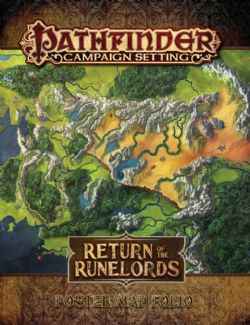 PATHFINDER : CAMPAIGN SETTINGS -  RETURN OF THE RUNELORDS - POSTER MAP FOLIO