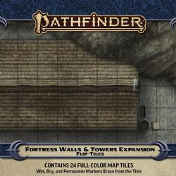 PATHFINDER -  FORTRESS WALLS AND TOWERS -  FLIP-TILES