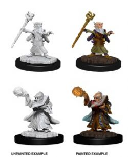 PATHFINDER MINIATURES -  MALE GNOME WIZARD (2) -  DEEP CUTS