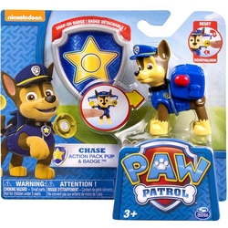 PAW PATROL -  CHASE FIGURE WITH BADGE