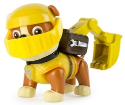 PAW PATROL -  RUBBLE FIGURE WITH BACKPACK -  MISSION QUEST