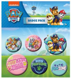 PAW PATROL -  SET OF 6 PINS