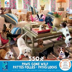 PAWS GONE WILD -  LIVING ROOM ROMPERS (550 PIECES)