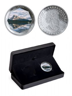 PETER MCKINNON PHOTO SERIES -  MOUNT RUNDLE (COIN IN SUB-BOX) -  2019 CANADIAN COINS 02