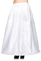 PETTICOAT -  LONG HOOP PETTICOAT - WHITE - ONE SIZE