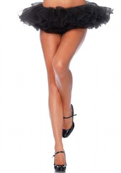 PETTICOAT -  ORGANZA TUTU - BLACK (WOMEN - ONE SIZE)