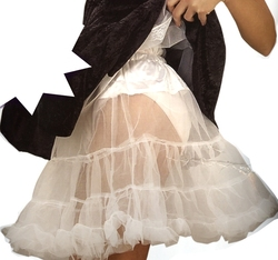 PETTICOAT -  PETTICOAT - WHITE (WOMEN - PLUS SIZE - UP TO A SIZE 22)