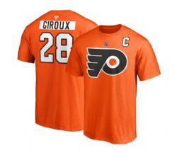 PHILADELPHIA FLYERS -  CLAUDE GIROUX #28 T-SHIRT - ORANGE
