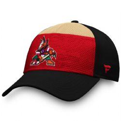PHOENIX COYOTES -  CAP - BLACK/RED/BEIGE (SMALL/MEDIUM)
